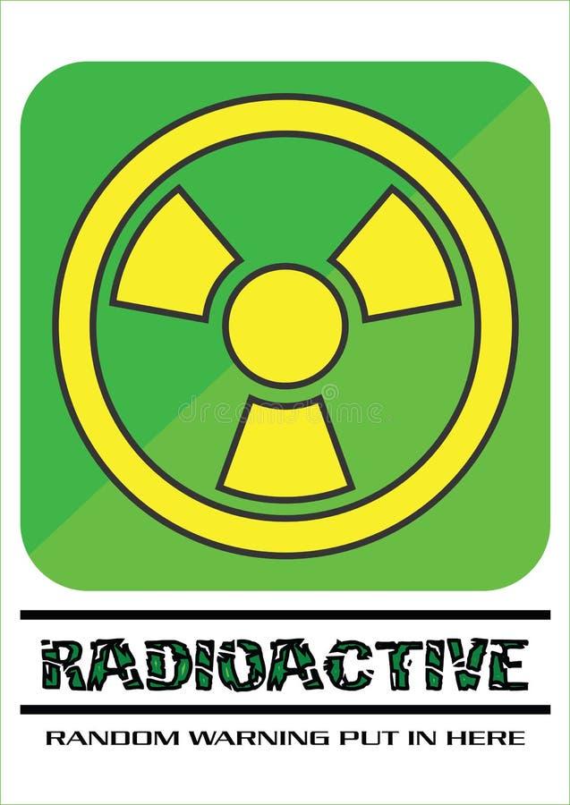 Green and Yellow Radioactive Sign royalty free stock photo