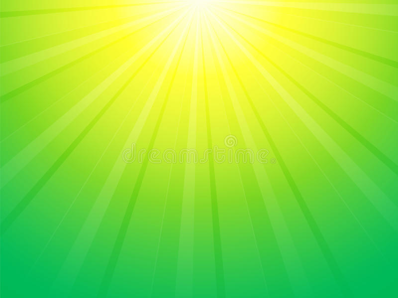 Green yellow ray background royalty free illustration