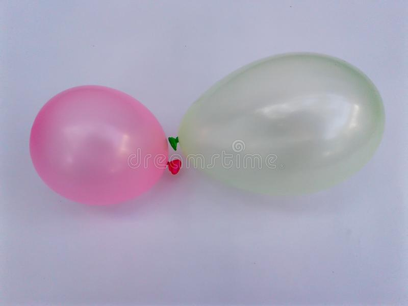 Colorful balloon green yellow red royalty free stock photography