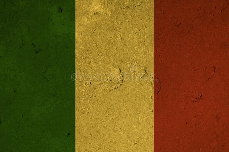 Green yellow red Reggae background royalty free illustration