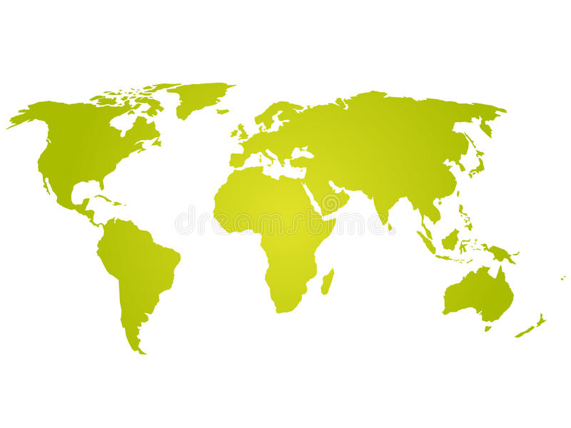 download green yellow silhouette of world map stock vector illustration of communication america