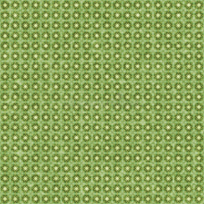 Green and yellow star burst abstract geometric seamless textured pattern background royalty free stock photography