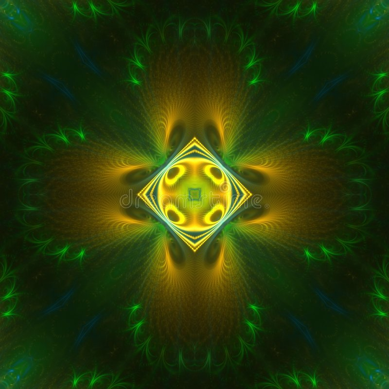 Download Green And Yellow Symmetrical Stock Illustration - Image: 4427840