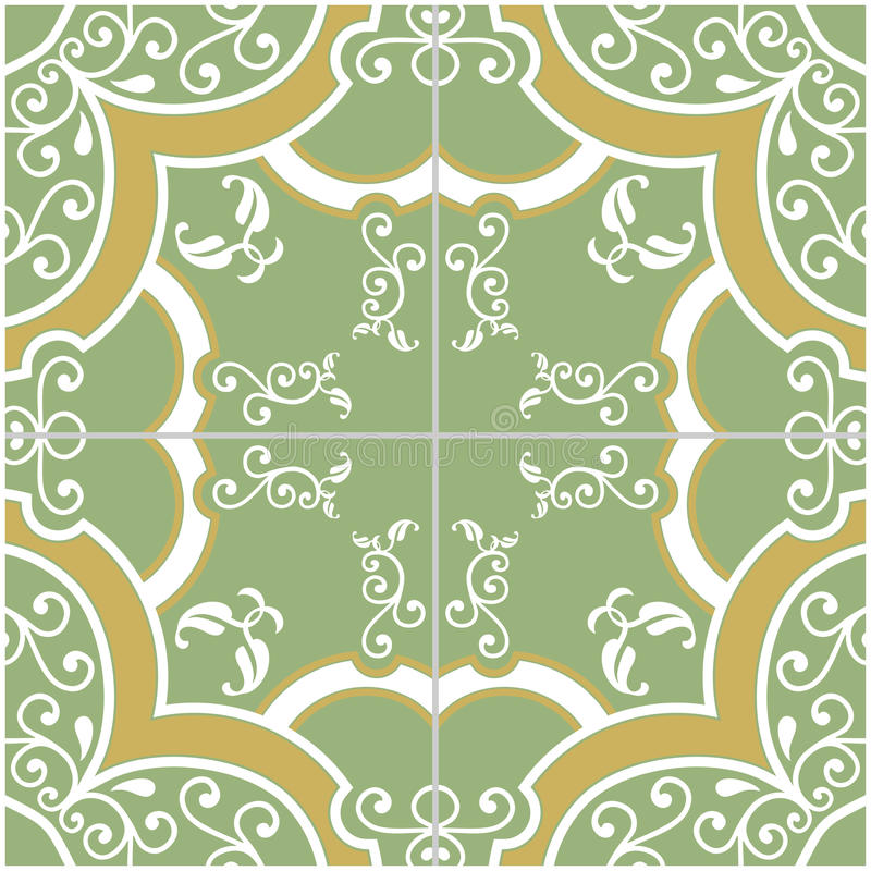 Download Green and Yellow Tile stock image. Image of interior - 31033701