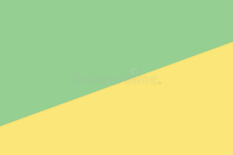 Green yellow two color soft paper pastel background, minimal flat lay style for fashionable cosmetics pastel color top view vector illustration