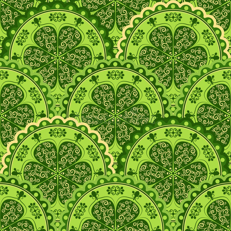 Green-yellow vintage seamless pattern royalty free stock photo