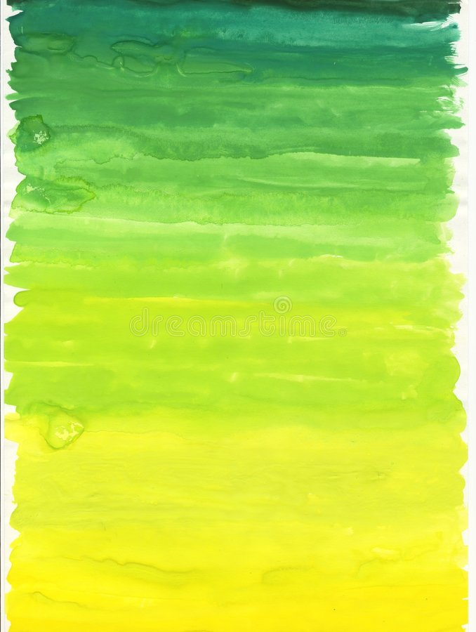 Green Yellow waterpaint royalty free stock images