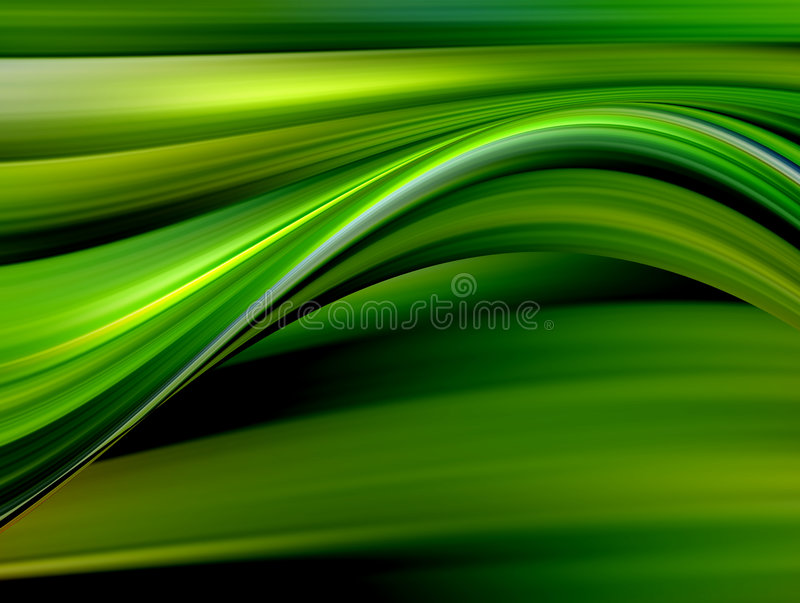 Green and yellow waves royalty free illustration