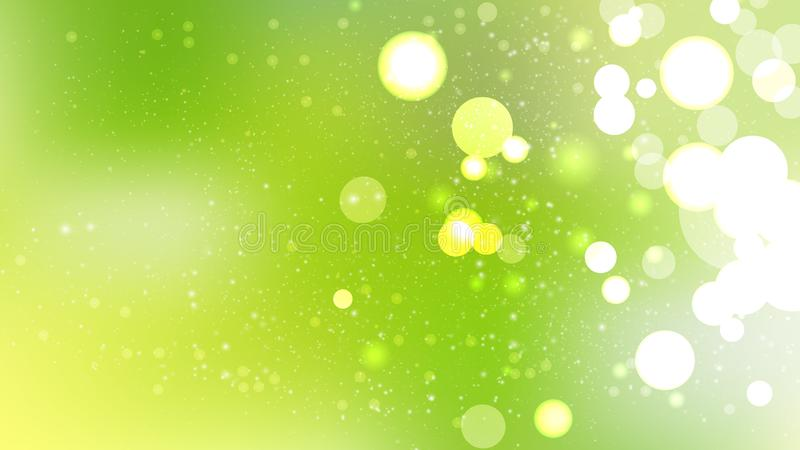 Green Yellow and White Bokeh Defocused Lights Background. Beautiful elegant Illustration graphic art design royalty free illustration
