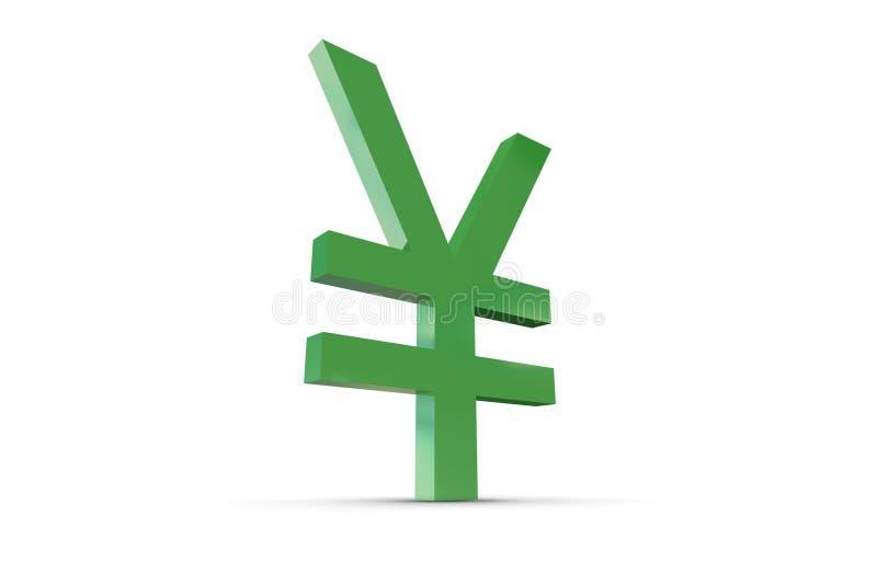 Green Yen Symbol royalty free illustration