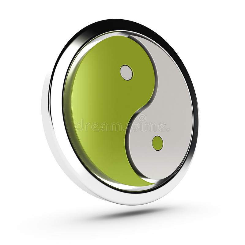 Download Green yin yang symbol stock illustration. Image of philosophy - 24394008
