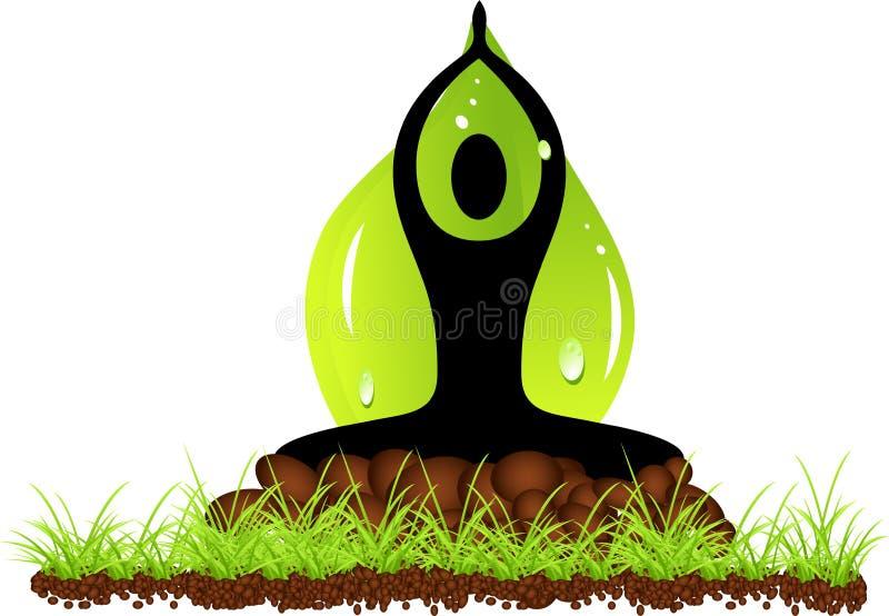 Download Green yoga stock vector. Illustration of position, balance - 19990351