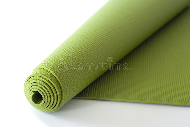 Download Green Yoga Mat stock image. Image of object, roll, work - 8916493