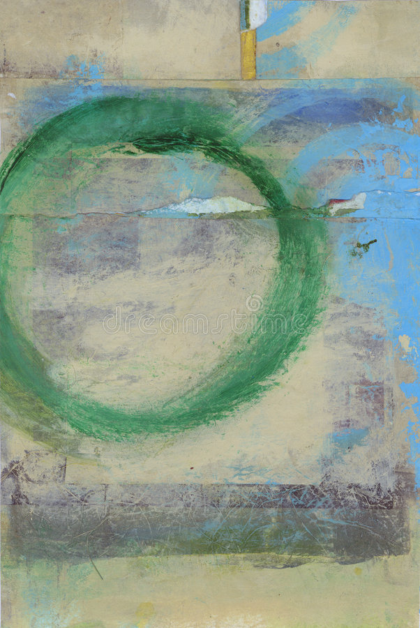 Green Zen Circle stock images