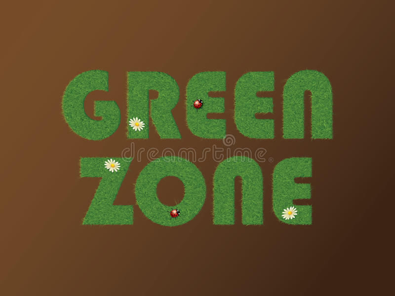 Download Green zone stock illustration. Image of doormat, text - 23826190