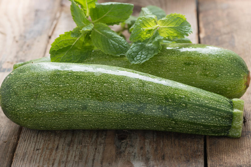 Green zucchini. royalty free stock photography