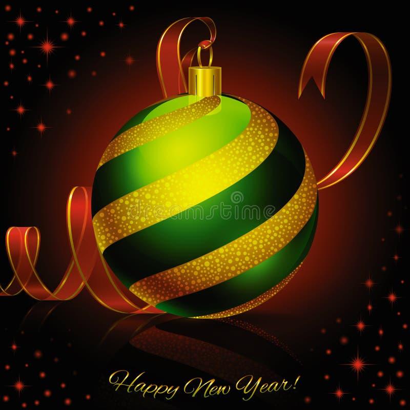 Greenball di Natale fotografia stock