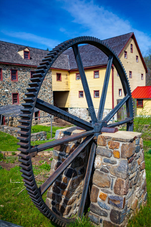 Greenbank Mill with large gear royalty free stock photos
