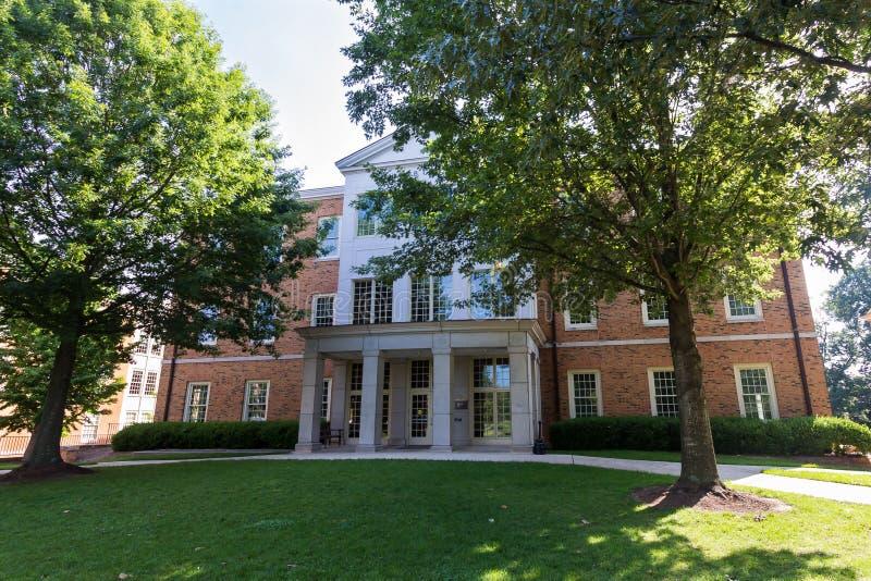 Greene Hall на WFU стоковая фотография