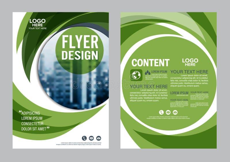 Download Greenery Brochure Layout Design Template. Annual Report Flyer Leaflet Cover Presentation Modern Background. Illustration  In Stock Illustration - Image: 83703104