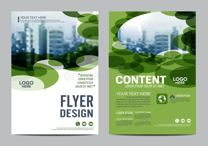 Download Greenery Brochure Layout Design Template. Annual Report Flyer Leaflet Cover Presentation Modern Background. Illustration  In Stock Illustration - Image: 83703482