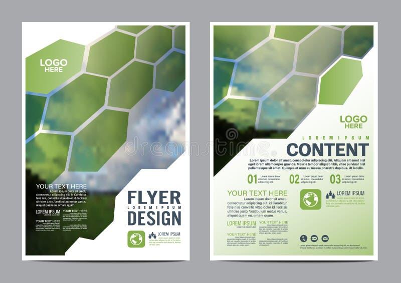 Greenery broszurki układu projekta szablon royalty ilustracja