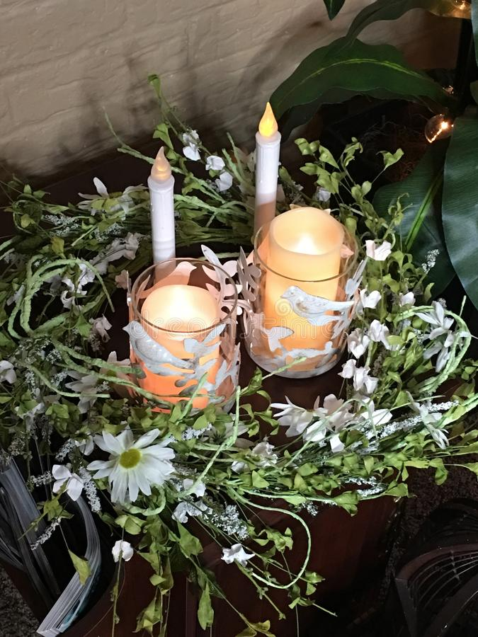 Centerpiece candles royalty free stock images