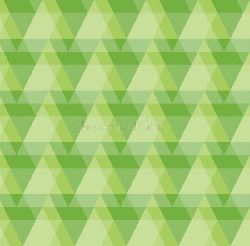 Greenery Geometric Pattern Background. Of triangles and rectangles vector illustration