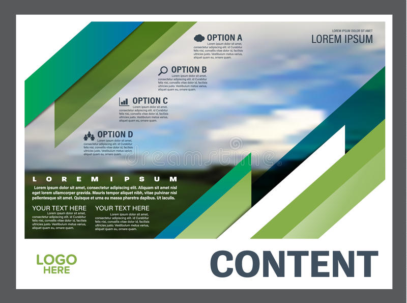 Download Greenery Presentation Layout Design Template. Annual Report Cover  Page. Stock Illustration   Illustration  Annual Report Cover Page Template