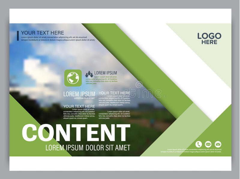 Greenery presentation layout design template annual report cover download greenery presentation layout design template annual report cover page stock illustration image pronofoot35fo Images