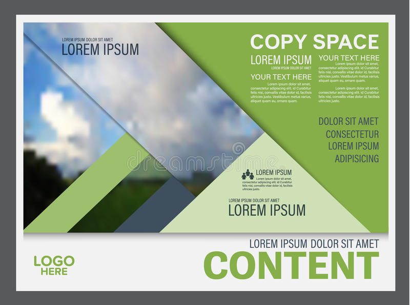 greenery presentation layout design template. annual report cover, Presentation templates