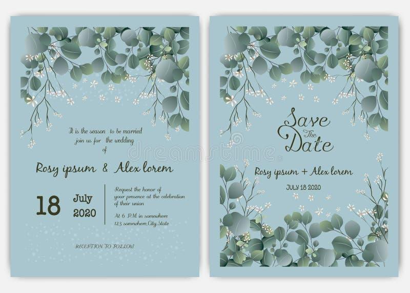 Eucalyptus Invitation Template Stock Illustrations 4572