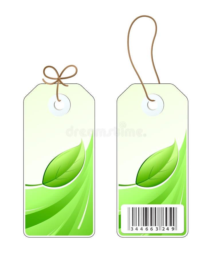greenetiketter royaltyfri illustrationer