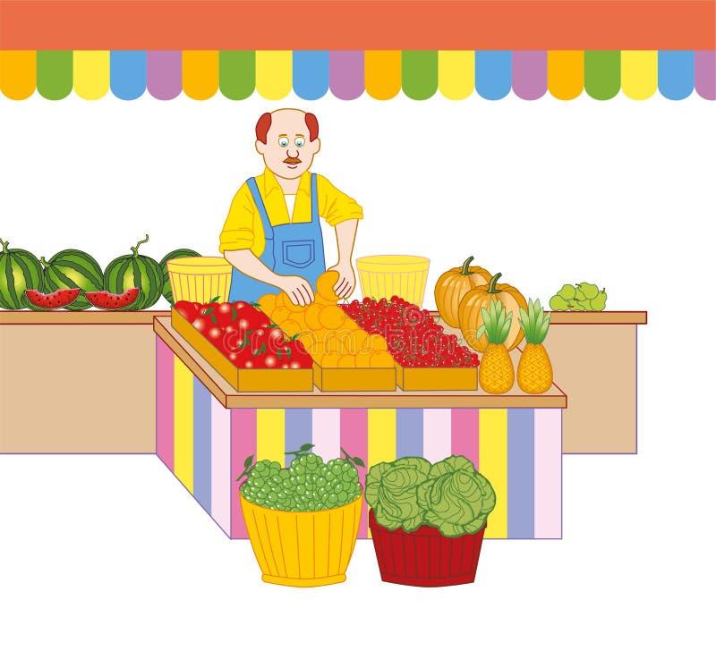 greengrocer иллюстрация вектора
