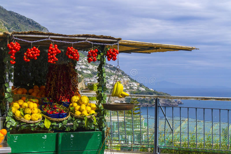 Greengrocer car stock photography