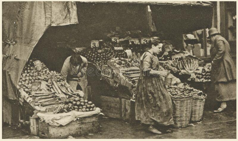 a greengrocer in the Commercial Road royalty free stock photography