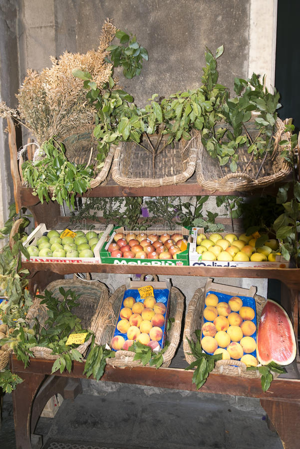 Greengrocer in Genova royalty free stock images
