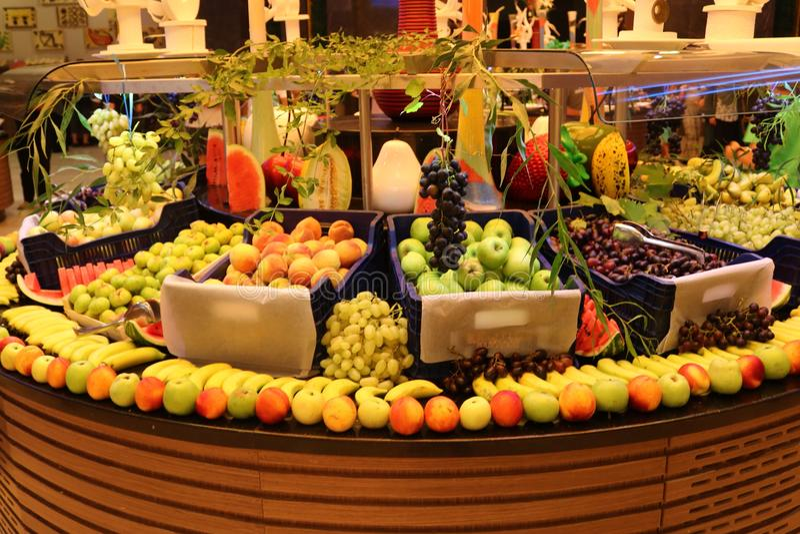 greengrocer Tienda de la fruta Fruta fresca Mercado de la fruta Colmado fotografía de archivo libre de regalías