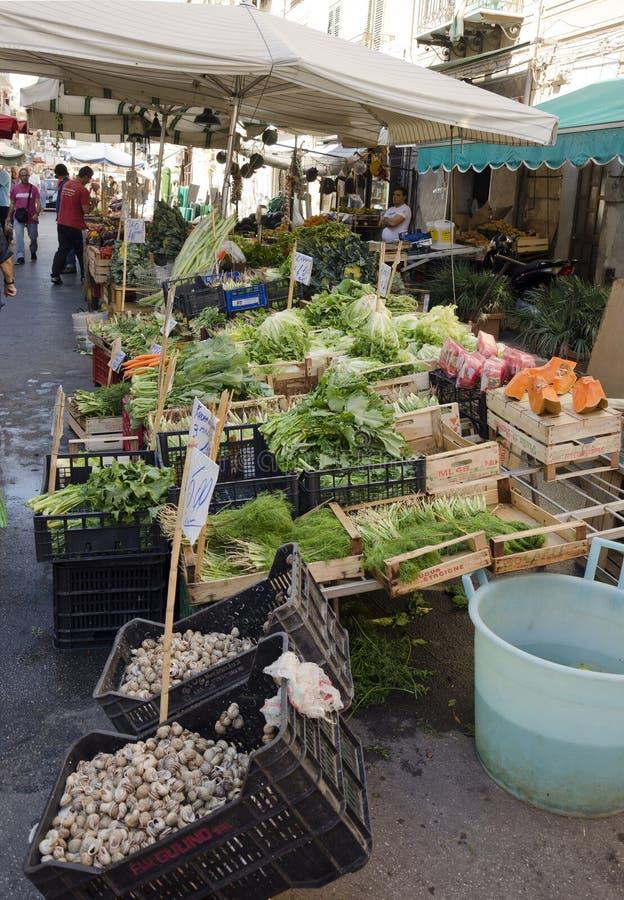 Greengrocer von Palermo stockbild