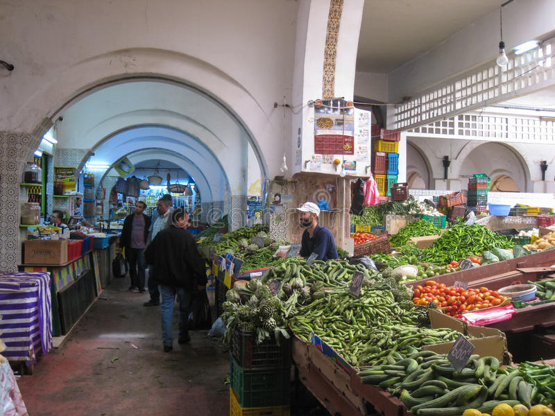 A greengrocery at the Souk. Tunis. Tunisia. A Greengrocery in the souk. Tunis. Tunisia stock photos
