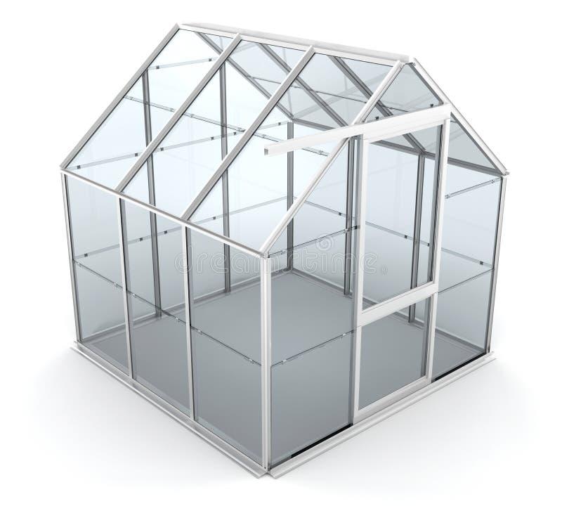 Download Greenhouse stock illustration. Illustration of glass, render - 5576668