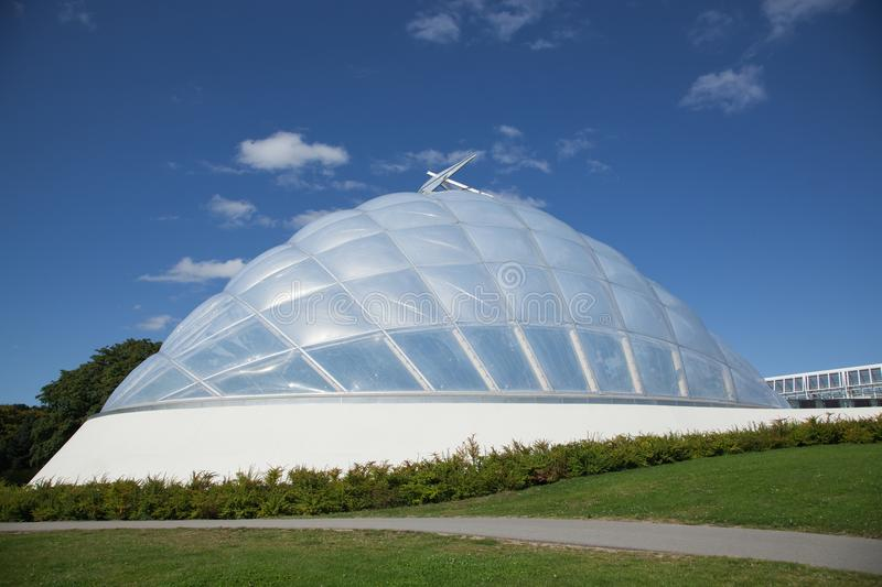 Greenhouse at the botanical garden in Aarhus royalty free stock photo