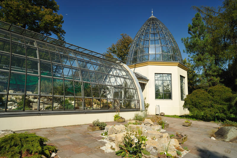 Elegant architecture of greenhouse royalty free stock image