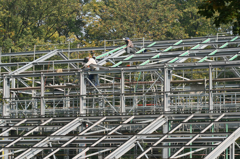 Download Greenhouse construction stock image. Image of building - 11034445