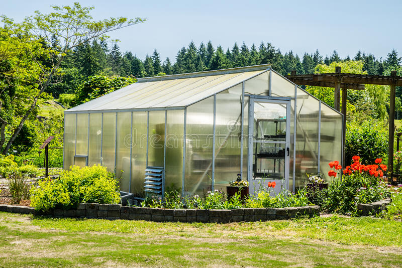 Greenhouse enclosure. Used to grow plants in a controlled environment