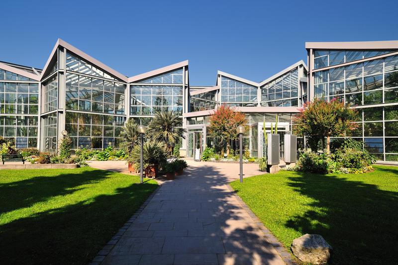 Greenhouse exterior architecture stock image