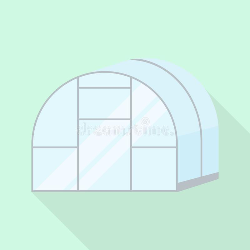 Greenhouse icon, flat style. Greenhouse icon. Flat illustration of greenhouse vector icon for web design stock illustration