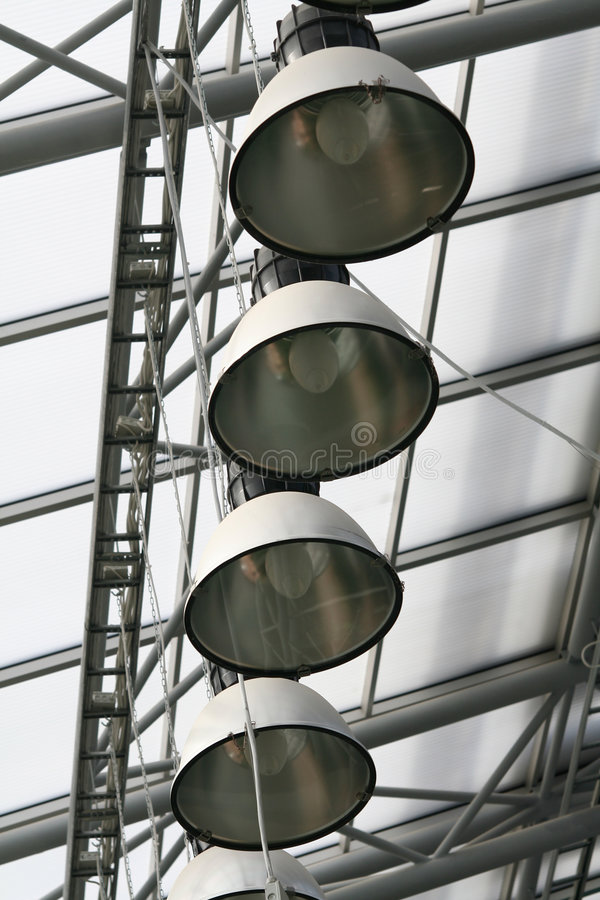 Greenhouse lights royalty free stock images