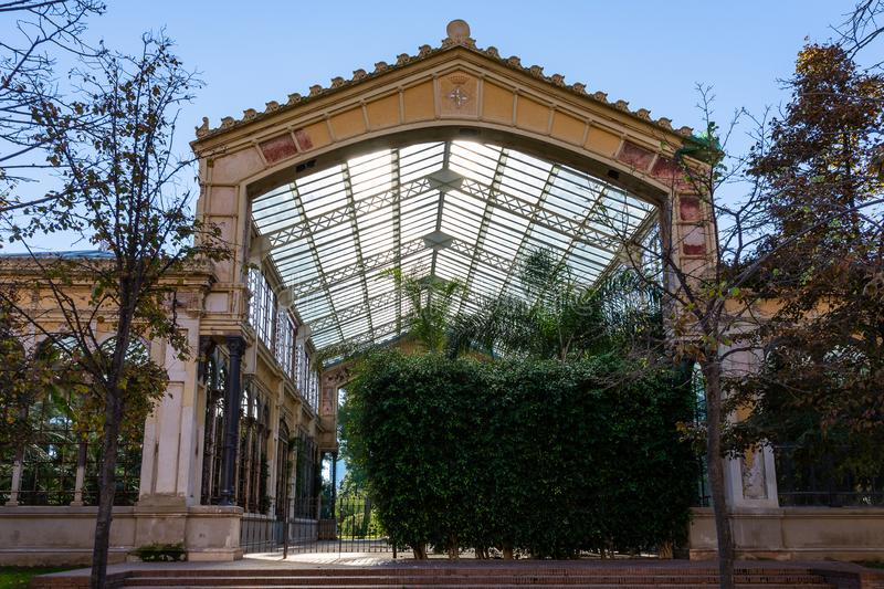 Greenhouse of the park de la Ciutadella. Barcellona. Spain royalty free stock photo