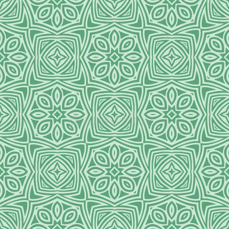 Greenish star flowers seamless pattern background illustration stock image